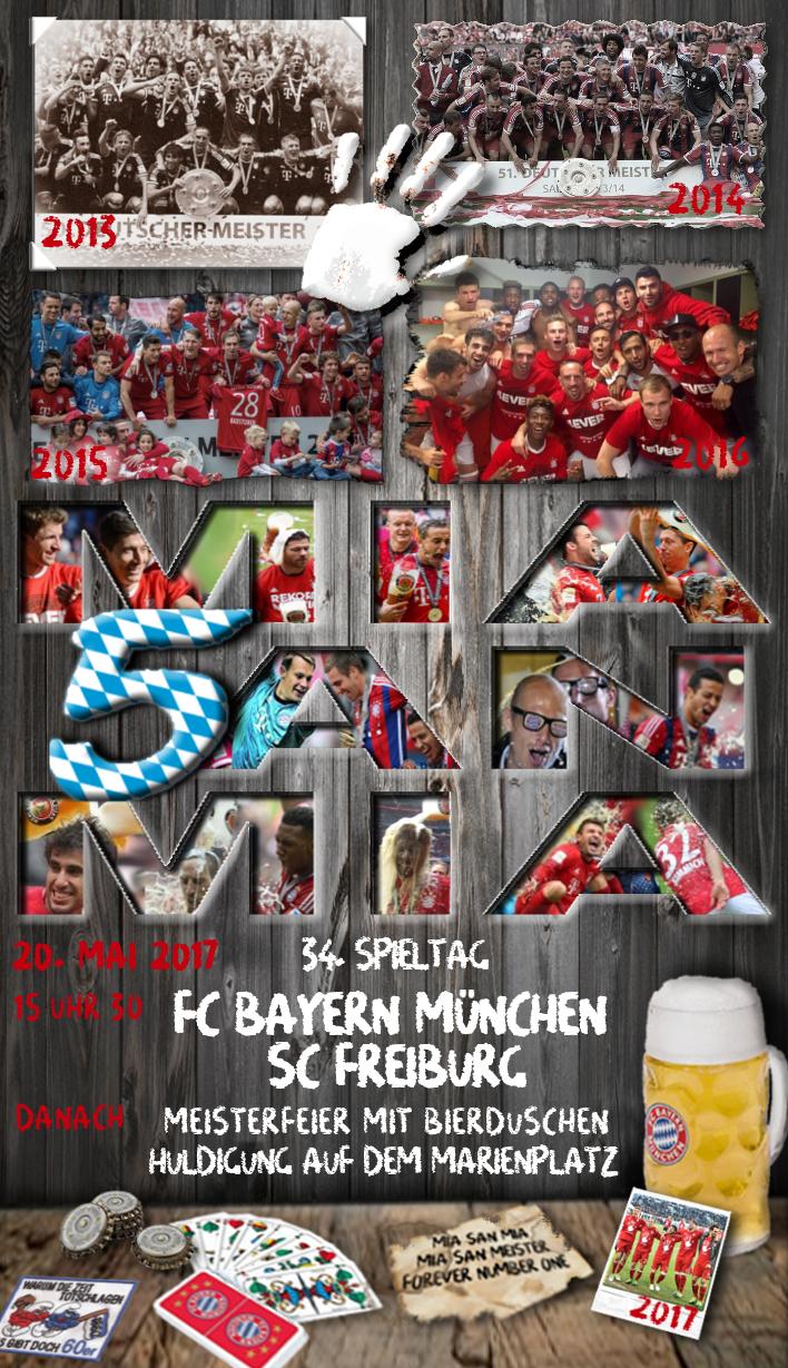 34 Spieltag Fc Bayern Sc Freiburg 41 Spieltage Saison 2016